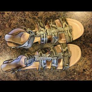Coach Snake Print Gladiator Sandals $100.00